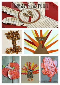 Lots of creative Thanksgiving Crafts and Activities for Kids