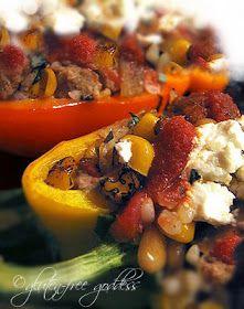 Gluten-Free Recipes | Gluten-Free Goddess: Stuffed Peppers with Ground Turkey