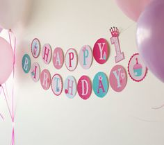 Printable Disney Princess Banner - This is for 1st birthday, but easy enough to adapt to another age!