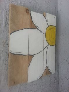 Beautiful hand painted flower pallet art by AutumnsAlley2013, $20.00