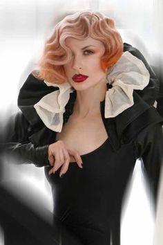 blonde with orange hair