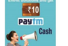 Register Entritt Solutions - Get Free Rs. 10 PayTm Cash [All Users]