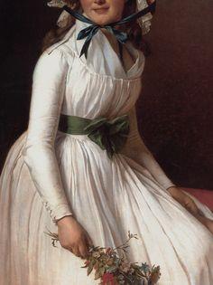 Madame Seriziatby Jacques-Louis David, 1795 (detail)
