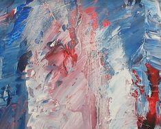 Maleri Solvind utsnitt 80x80 cm