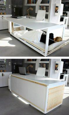 The DeskBed is Half Desk and [Spoiler Alert!] Half Bed