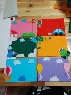 밴드로 놀러오세요~~^^(블러그 댓글은 답이 어려워요ㅠㅠ) : 네이버 블로그 Paper Picture Frames, Photo Frame Crafts, Stick Art, Diy Frame, Painting For Kids, Origami, Classroom Decor, Preschool, Kids Rugs