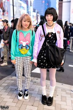Miyukitty & Zorinchan are two colorfully-dressed high school students we met in Harajuku. Their looks include items from the popular #Harajuku brands/shops Milklim, Spinns, WEGO, Sevens & Tokyo Chiip Lovers. Miyukitty also told us she loves Kyary Pamyu Pamyu. Check all of the girls' snaps here! #tokyofashion #streetsnaps