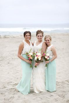 Bridesmaids in maxi skirt and top combos! onefabday.com