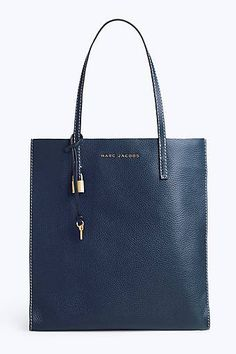 1b50022b14 Marc Jacobs The Grind Shopper Tote Bag in Blue Sea Marc Jacobs Tote