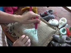How To Needle Felt - Attaching Long Fibers: Sarafina Fiber Art Episode 7 - YouTube