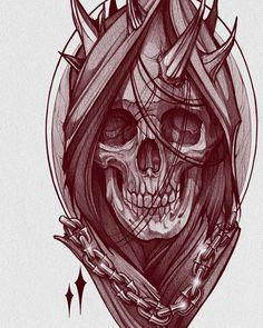 Full Tattoo, Dark Art Tattoo, Full Sleeve Tattoo Design, Tattoo Flash Art, Skeleton Drawings, Dark Art Drawings, Tattoo Sketches, Tattoo Drawings, Skull Sleeve Tattoos