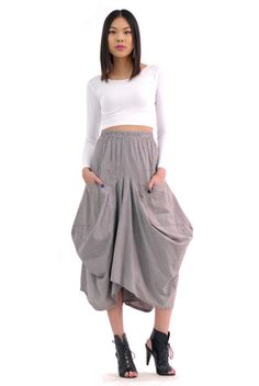 Modern Drape Skirt | Spanish Moss