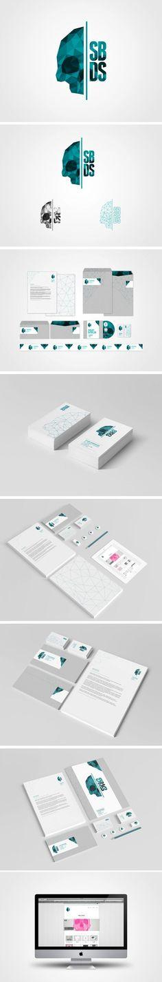 "SBDS's ""Self-Branding"" from Stian Bjørhovde Design Studio, via Behance. I love that despite using polygon design trends, it's still unique branding. #ZooSeo"