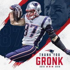 """fb5c3341ef1 New England Patriots on Instagram: """"A champion on the field and off. Thank  you for everything, @gronk!"""""""