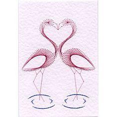 Flamingos Prick and Stitch e-pattern