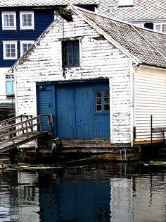 Waterside, Ålesund, Norway.....love that blue....