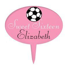 Sweet Sixteen-Soccer Ball Cake Pick