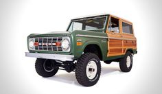 """** VINTAGE WOODY FORD BRONCO ** The specialist group the """"Classic Ford Broncos"""" have announced their latest specially restored vehicle the Vintage Woody Ford Bronco ($75K). The f..."""