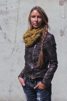Chunky cowl neck warmer scarf Mustard Yellow scarf yellow
