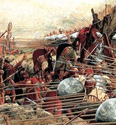 Battle of Pydna, June 22, 168 BCE Roman legions, under the command of Lucius Aemilius Paullus,  defeat Perseus of Macedon's forces
