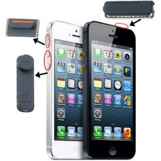 [$2.44] 3 in 1 (High Quality Mute Button + Power Button + Volume Button) for iPhone 5 (Black)