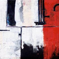 """Ruggiero Spadaro""""FABRICA #001"""" Tecnica mista su tela cm. 30 x 30 Anno 2004"""