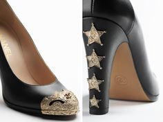 2014 NIB CHANEL Calfskin with Metal Plate Cap Toe, Dallas, Paris Collection: RUNWAY, purchase at theCIRCEeffect.com