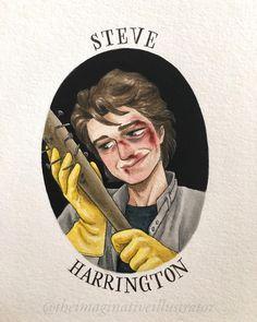 Stranger Things Have Happened, Stranger Things Steve, Stranger Things Aesthetic, Stranger Things Funny, Stranger Things Netflix, Stranger Things Fan Art, Stranger Things Characters, Joe Keery, Cute Drawings