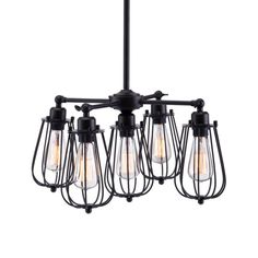 Buy the Zuo Modern 98424 Distressed Black Direct. Shop for the Zuo Modern 98424 Distressed Black Porirua 5 Light 1 Tier Metal Cage Chandelier and save. Led Ceiling Lamp, Metal Ceiling, Ceiling Lights, Black Ceiling, Ceiling Pendant, Modern Ceiling, Industrial Lighting, Pendant Lighting, Industrial Design