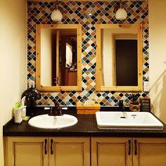 のたくさんのいいねをありがとうございます♡/アンティーク/バス/トイレについてのインテリア実例を紹介。「名古屋モザイク コラベル可愛ぃ。」(この写真は 2015-03-23 19:31:50 に共有されました)