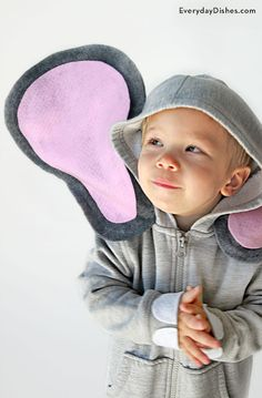 DIY hoodie elephant costume Halloween craft