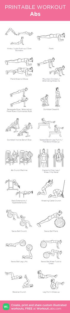 Abs:my visual workout created at WorkoutLabs.com • Click through to customize and download as a FREE PDF! #customworkout