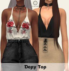 Depy Top at Lumy Sims • Sims 4 Updates