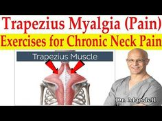 Trapezius Myalgia Caused From Forward Head Posture (Best Corrective Exercises) - Dr Mandell, DC Shoulder Rehab, Neck And Shoulder Pain, Neck Pain, Health And Fitness Tips, Health Advice, Neck Exercises, Spine Health, Good Posture, Back Pain Relief
