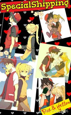 """Specialshipping *When I saw Red trying to hide his blush I'm like """"Gurl you can not hid dat blush embrace dat blush just like you might embrace dat gurl"""" then I started laughing like a crazy person Pokemon Manga, Pokemon Stuff, Pokemon Red Blue Yellow, Yellow Trainers, Pokemon Couples, Crazy Person, Pokemon Ships, Pokemon Special, Anime One"""