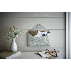 Galvanized Mail Holder $14.99