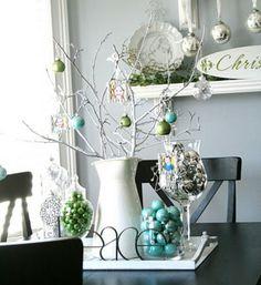 weiße-Tischdekoration-Weihnachten