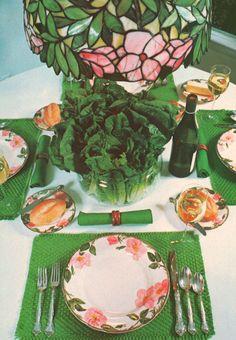 1970s Decor, Retro Table, Entertaining, Table Decorations, Painting, Home Decor, Decoration Home, Room Decor, Painting Art