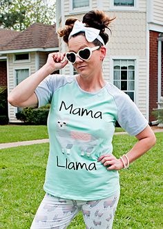 The Hair Bow Company |  Mama Llama Mommy & Me Shirt for Womens
