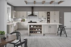 Verona arched style replacement kitchen doors finished in Taupe grey