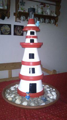 leuchtturm aus blument pfen lighthouse pinterest leuchtturm. Black Bedroom Furniture Sets. Home Design Ideas