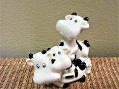 Cow Figurine Farmhouse Decor Vintage Porcelain Animals Ceramic Country Kitchen blm by PorcelainChinaArt on Etsy