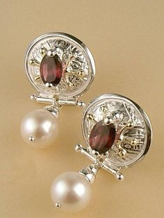 RT or Repin this Now Gregory Pyra Piro #Sterling #Silver and #Gold #Earrings 6487