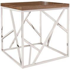 Howard Elliott Angles Silver Side Table
