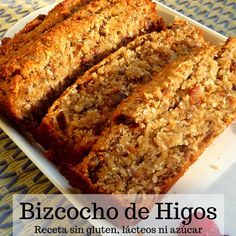 Bizcocho de Higos Receta sin gluten, lácteos ni azúcar