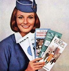 Vintage Pan American Airlines ad - 1963