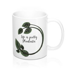 Pretty Plantasic Mug.  #cup #plant #gardening #garden  #kitchen #giftideas #gifts #life  #quotes #shopping