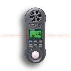 http://termometer.dk/luftflowmaler-r13135/environmental-meter-med-4-maleparametre-53-45170-r13149  Environmental Meter med 4 måleparametre  Ergonomisk lommestørrelse hus med stor dobbelt LCD samtidig visning af temperatur og lufthastighed eller relativ luftfugtighed  Tegn på skærmen modsat retning afhængig Hygro-Thermo-Vindmåler eller Light-tilstand  dataholdefunktion at fryse den viste værdi  Spiller Min / Max-værdier  Indbygget lav friktion vingehjuls forbedrer nøjagtigheden...