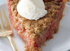 Recette : Tarte crumble à la rhubarbe et fraise.