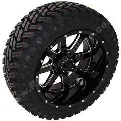 22x12 Gear Alloy 726MB Wheels Black Milled finish w/ Atturo Trail Blade MT…